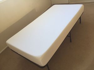 Twin XL mattress w/ bed frame for Sale in Campbell, CA