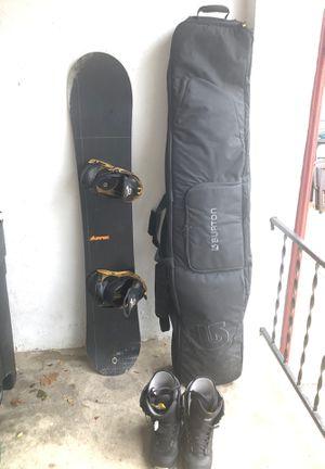 Burton Snowboard, Tavel Bag, and Size 10 Burton Snowboarding Boots for Sale in Philadelphia, PA