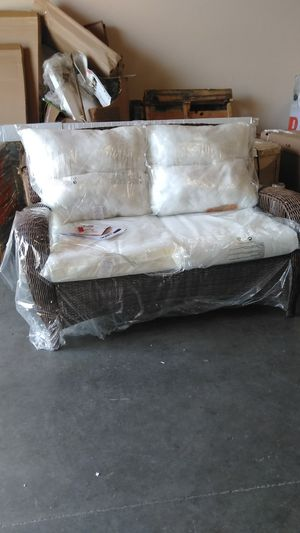 "Retail at $340...I'll take $150. Brand new. Has bare cushions. So you'd need to add covers if want them. This is how it is sold. ""Bare"" for Sale in San Bernardino, CA"