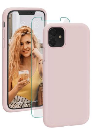 Case for iPhone 11 Liquid Silicone Shockproof Protective Case Cover Durable Drop Protection Bumper Compatible with iPhone 11 6.1 inch 2019-Sand Pink for Sale in Alhambra, CA