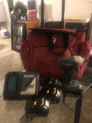 Makita compact 18 volt drill with extras for Sale in Phoenix, AZ