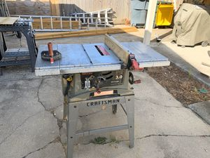 Craftsman 10 inch portable table saw for Sale in Fort Walton Beach, FL