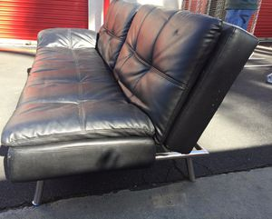 Leather Euro Lounger / Futon for Sale in Vista, CA