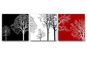 Tree Wall Art Black/White/Red for Sale in Salt Lake City, UT