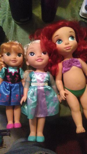 Frozen and lil mermaid dolls for Sale in Buena Park, CA