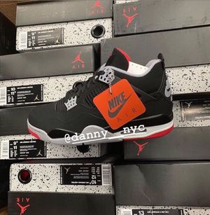 "78e8b64f6bcfae Jordan Retro 4 ""Bred"" Kid s   Men s Sizes Brand New 100% Authentic for"