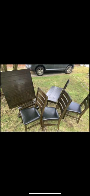 Dining table 4 chairs and leaf for Sale in University Place, WA
