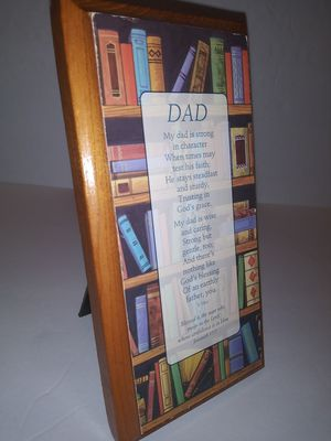DAD Picture, Stands Up, Home Decor Gift for Sale in Victoria, TX