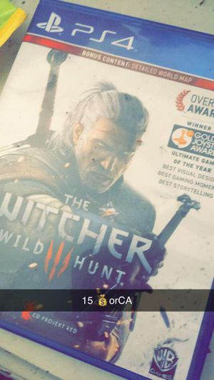 The Witcher Wild Hunt3 PS4 for Sale in Woodbridge, VA