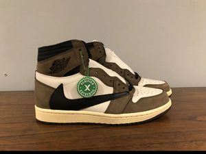 Air Jordan 1 Authentic Travis Scott Shoes Size 9 Men's for Sale in Castro Valley, CA