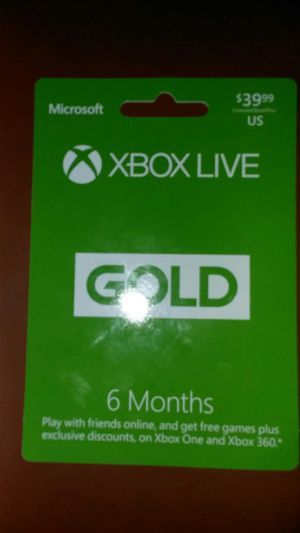 Xbox gold 6 mouths 40.00$ for Sale in Las Vegas, NV