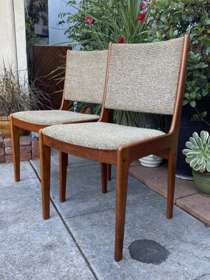 Vintage Danish Mid Century Teak Dining Desk Accent Chairs by Scandinavia Woodworks $125 PER CHAIR for Sale in San Diego, CA
