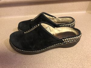 PreOwned UGG Shoes Women's 7 Black Suede Sherling Fur Lined Kohala Mules Clogs for Sale, used for sale  Waipahu, HI