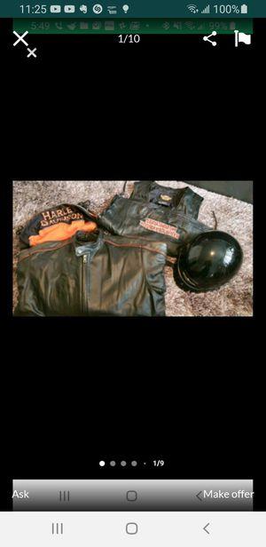 Harley Davidson Leather Jacket, Leather Vest & Hamlet. for Sale in Lincoln Park, MI