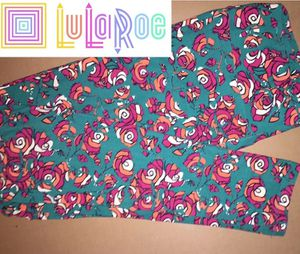 LuLaRoe TC Leggings Floral Teal Pink for Sale in East Peoria, IL