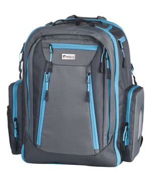 Okkatots baby-diaper backpack. Blue with grey and black with red for Sale in Salt Lake City, UT