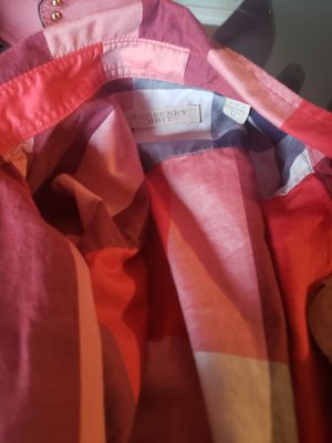 2 med authentic Burberry long sleeve shirts for Sale in Florissant, MO
