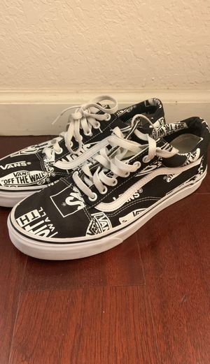 Vans Old School Mixed Logo Black size 8.5 for Sale in Port St. Lucie, FL