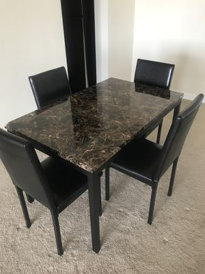 Faux Marble Table (chairs not included) for Sale in Silver Spring, MD