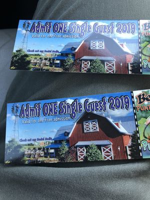 (2) Admission tickets to Bengtson's Pumpkin Farm for Sale in Chicago, IL
