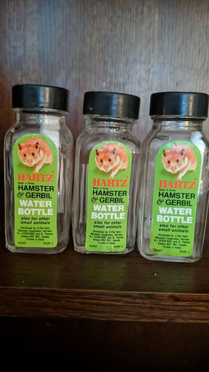Three glass hamster 🐹 and gerbil water bottles for Sale in Graham, WA