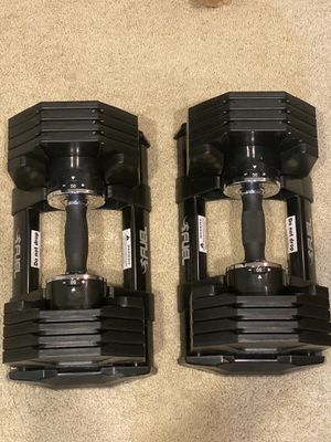 Black Adjustable dumbbells indoor home gym equipment for Sale in Irvine, CA