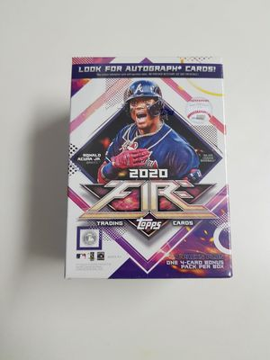 2020 Topps Fire Baseball Trading Cards for Sale in Bellevue, WA