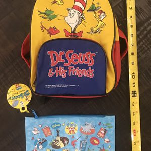 Dr Seuss Backpack and Pencil Case Just $5 For All for Sale in Port St. Lucie, FL