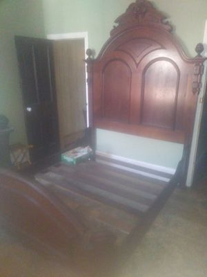Gorgeous mahogany bed frame 8ft tall. for Sale in Philadelphia, PA