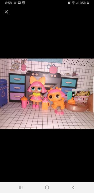 Lol suprise doll glitter queen and Glitter poodle fuzzy pet for Sale in River Grove, IL