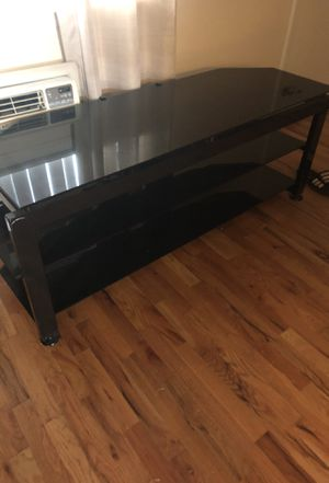 Black Glass/Metal tv Stand for Sale in Denver, CO