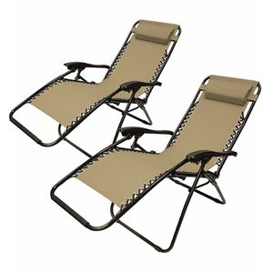 2FLCH Patio Foldable Chaise-Longue Leisure Pool Beach Chair Set of 2 for Sale in Kent, WA