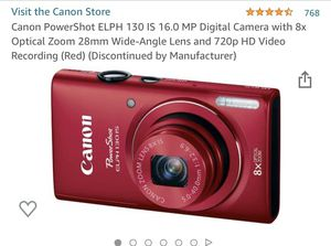 Canon power shot- red for Sale in Fresno, CA