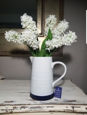 Home Decor Farmhouse Pitcher With Flowers for Sale in Jackson Township, NJ