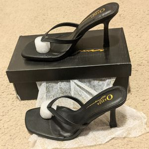 Faux Leather Toe-Thong Heels for Sale in Hillsboro, OR