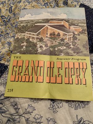 Grand Ole Opry Souvenir Program for Sale in Forney, TX