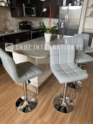 New 4 grey bar stools for Sale in Orlando, FL