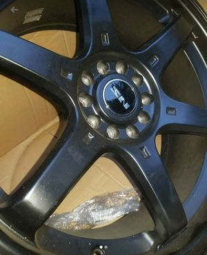 18x8 Black Powder Coated Aluminum Racing Rims for Sale in Atherton, CA