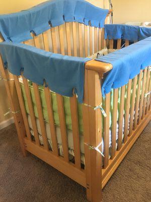 Newborn/Baby/toddler Babi Italia Crib, Organic Colgate mattress, sheet, bumper, crib skirt, rail protector, etc. for Sale in Pacific, WA