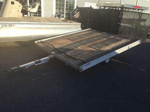 """2001 Sno-Pro SnoPro 10'x101"""" open aluminum 2 place trailer will trade for Sale in Westford, MA"""