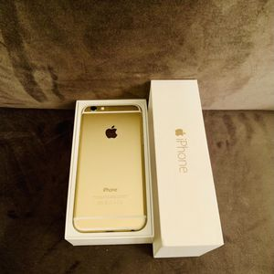 Gold iPhone 6 factory unlocked in box, FIRM @140$ for Sale in Las Vegas, NV