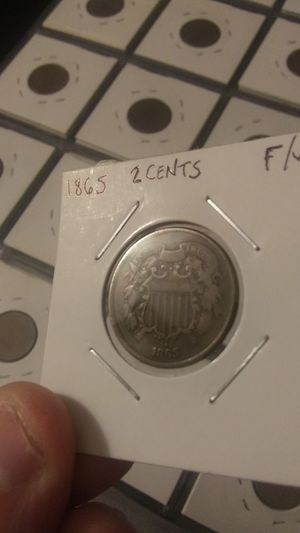 1865 2 cent piece for Sale in Peoria, IL