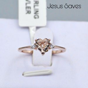 S925 Rose Gold Heart CZ Ring SRC-16679 Size 5/6/8/9 for Sale in Fresno, CA