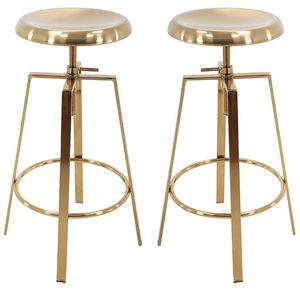 2 Gold Stools Adjustable Height for Sale in Washington, DC