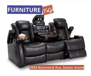 Ashley home theater sofa, power everything!!brand new in box for Sale in Staten Island, NY