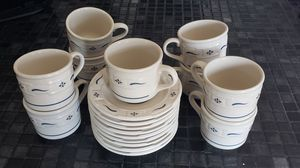 Longaberger coffee cup and saucers for Sale in Medina, OH