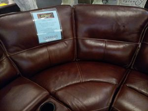 Natural leather sectional couch for Sale in Raleigh, NC
