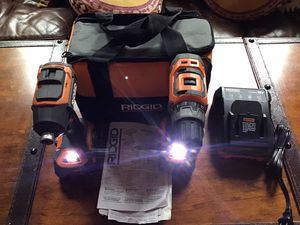 ‼️RIDGID GEN 5 X BRUSHLESS DRILL / DRIVER IMPACT COMBO KIT WITH 2 BATTERIES 🔋 🔋 AND CHARGER 🔌 for Sale in Saint Paul, MN