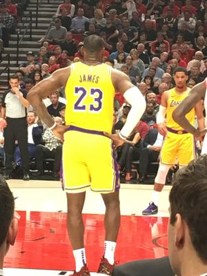 Courtside Tickets Los Angeles Lakers VS Portland Trailblazers for Sale in Issaquah, WA