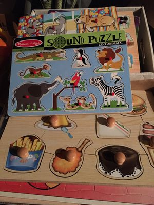 Baby/toddler puzzles, wood, One dollar per puzzle for Sale in Camp Hill, PA